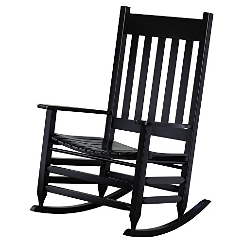 Hinkle Chair Company Painted Plantation Jumbo Rocking Chair, Black