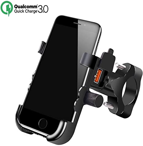 Jamicy® Soporte de teléfono de Moto de Aluminio con Cargador USB ...