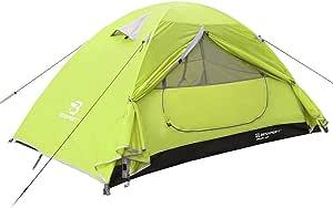 Bessport Tienda de Campaña con Dos Puertas A Prueba de UV/Viento Fuerte/Lluvia para Trekking, Campamento, Playa, Aventura, etc (1 Person, Green): Amazon.es: Deportes y aire libre