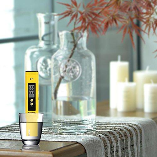Digital PH Meter, VANTAKOOL PH Meter 0.01 PH High Accuracy Water Quality Tester with 0-14 PH Measurement Range for Household Drinking, Pool and Aquarium Water PH Tester Design with ATC (Blue) (yellow) by VANTAKOOL (Image #4)