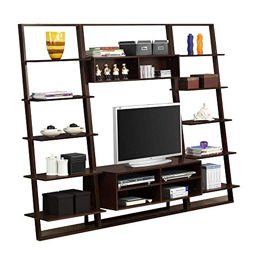Entertainment Center with Wall Bookcases 4d Concepts Tv Stand
