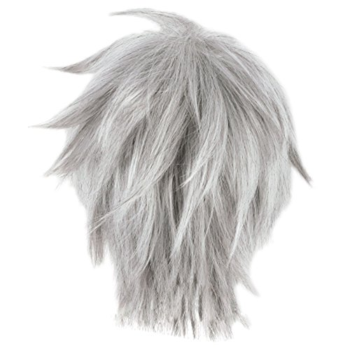Jack Frost Wig Rise of The Guardians Cosplay Short Silver Gray Hair Accessory ()
