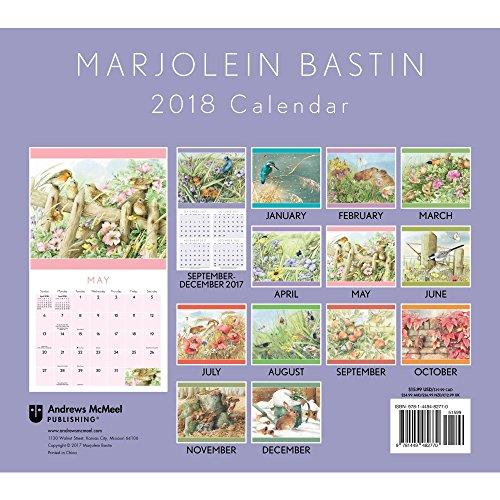 Marjolein Bastin 2018 Deluxe Wall Calendar