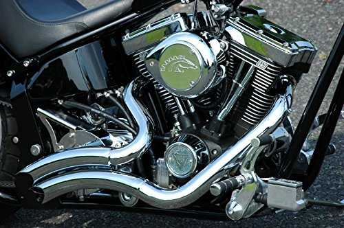 - ACCESSORIESHD - BIG RADIUS STYLE Chrome Exhaust Pipes Right Side Drive RSD Harley Chopper Bobber Custom