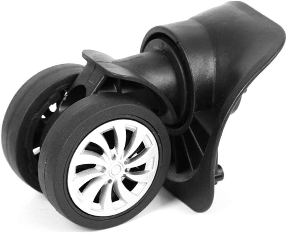 CYBfacai - Juego de 4 Ruedas de Repuesto para Maleta de Equipaje, Ruedas giratorias universales, Color Negro