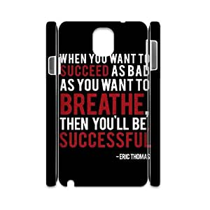 Unique Designs AXL373238 New Cover Case For Samsung galaxy Note 3 N9000 3D Phone Case w/ Positive Energy Slogans
