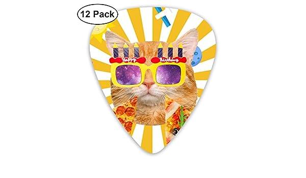 Divertido gato naranja feliz cumpleaños pizza 351 Forma de ...