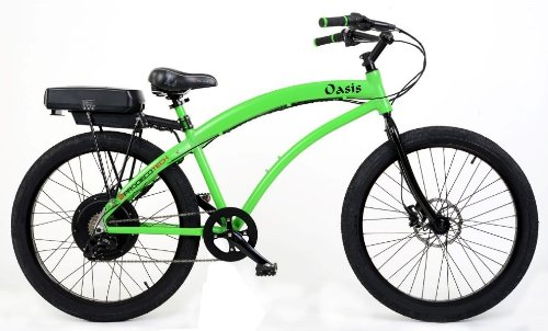 ProdecoTech Oasis 48V 750W 8 Speed Electric Bicycle, 18-Inch/Large, Gloss Lime Green