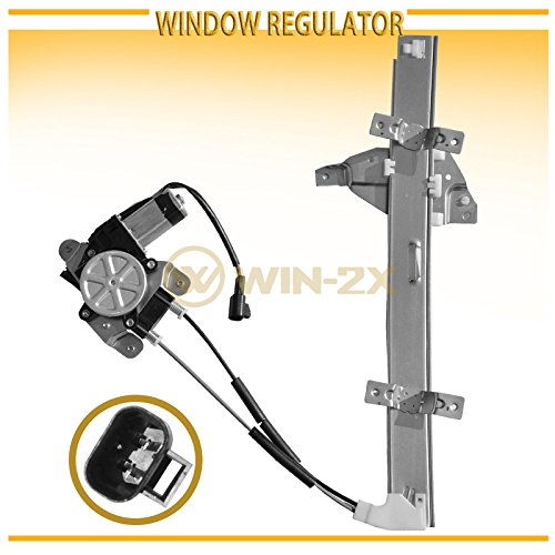 WIN-2X New 1pc Front Driver (Left) Side Power Window Regulator & Motor Assembly Fit 97-05 Buick Century 97-04 Regal 98-02 Oldsmobile Intrigue