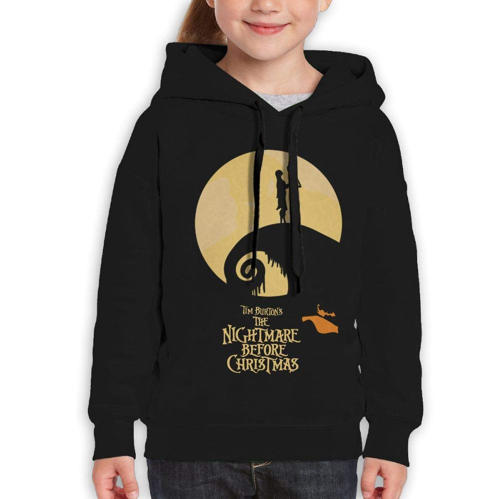 Guiping The Nightmare Before Christmas Youth Pullover Hooded Sweatshirt Black XL