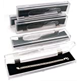 5 Crystal Bracelet Jewelry Boxes Clear Cut Display Gift Holder