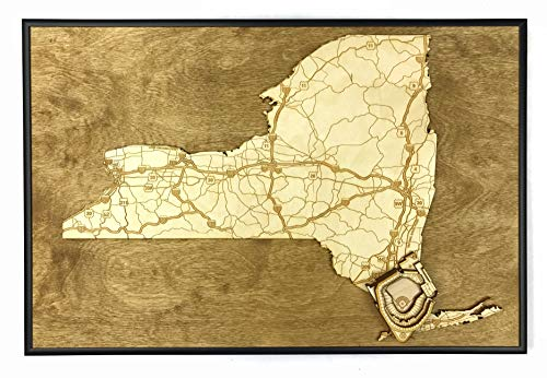 Queens, New York Map by Stadium Map Art | Citi Field Stadium Poster | Shea Stadium 3D | Sports Decor with 3D Stadium Art ()