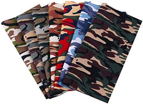 7pcs 9×9(25cm×25cm) Mask Fabric Cotton Camouflage Fabric Handmade DIY Patchwork