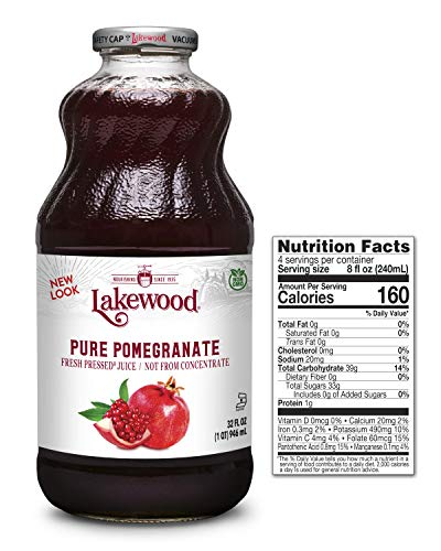 100% Pure Pomegranate Antioxidant - Lakewood PURE Pomegranate Juice, 32-Ounce Bottles (Pack of 6)