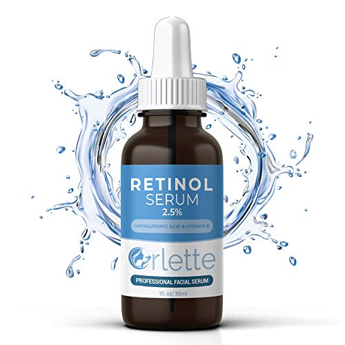 51OsNoWnxDL - Orlette Retinol Serum 2.5% - Professional Grade Skincare - Vitamin A and E, Hyaluronic Acid - Anti-Aging, Hydrating Skin and Face Moisturizer - Wrinkle, Acne Spot, Pigmentation, Blemish Remover - 30ml