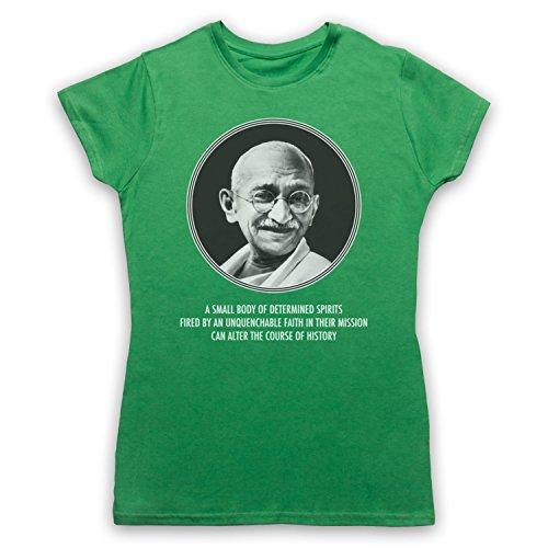 Gandhi Mahatma Camiseta para Mujer Verde