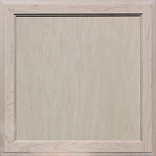 Flat Panel Cabinet Doors - Unfinished Maple Square Flat Panel Cabinet Door by Kendor, 22H x 22W
