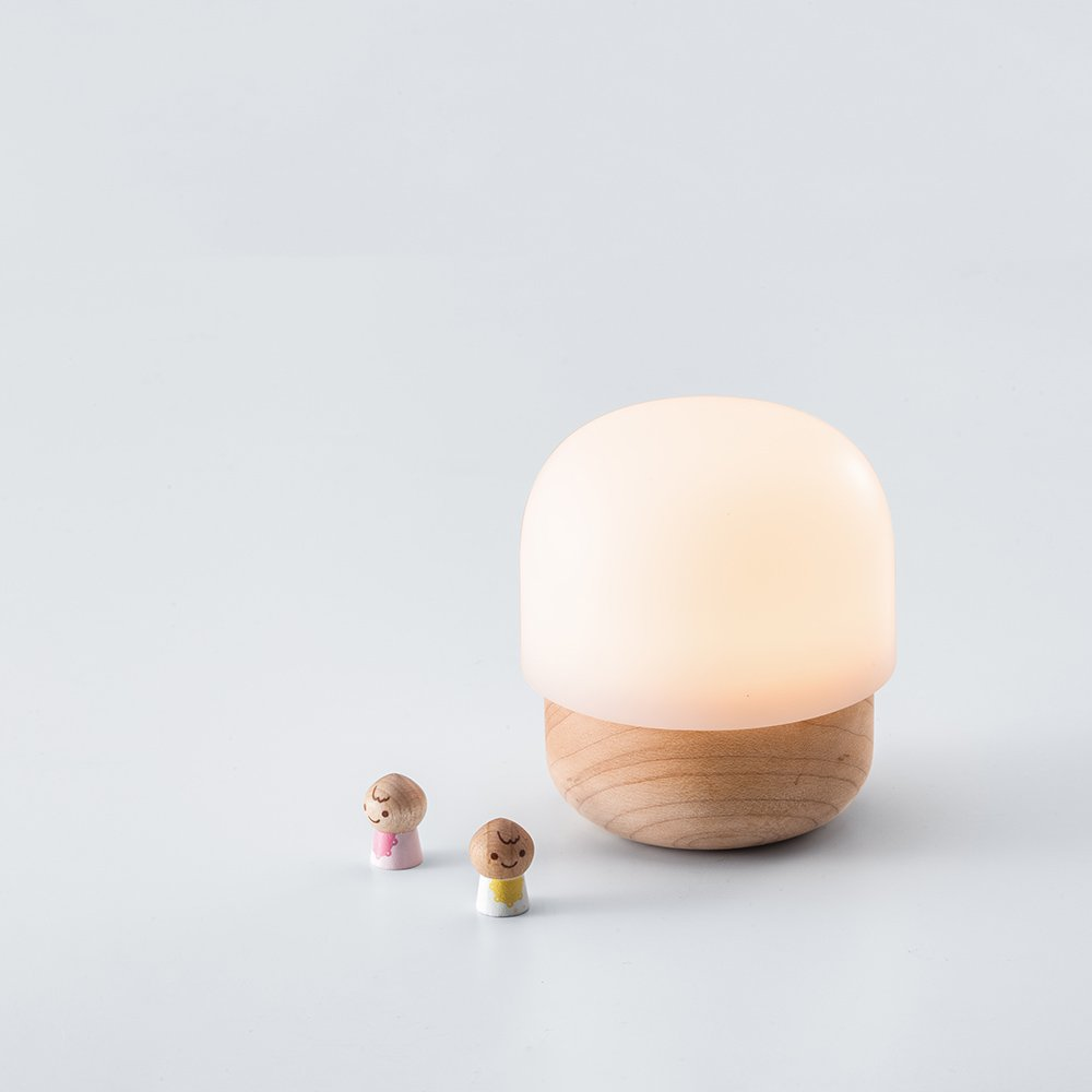 TAKIESO Mini Mushroom Light D2 ZIISTLE, Night Light for Kids in The Bedroom, Mini-Size Portable, Built-in LED Beads Close to Nature Light (Maple Wood & Anti-Allergy PC). by TAKIESO (Image #3)