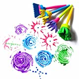 HENGSONG Children Kids Creative Flower Stamp Sponge Brush DIY Art Painting Tools