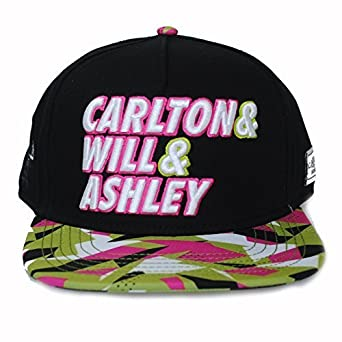 659b6f1943c4bd Cayler And Sons Fresh Prince Carlton Will Ashley 90s Neon Black Snapback  Hat Cap: Amazon.co.uk: Clothing