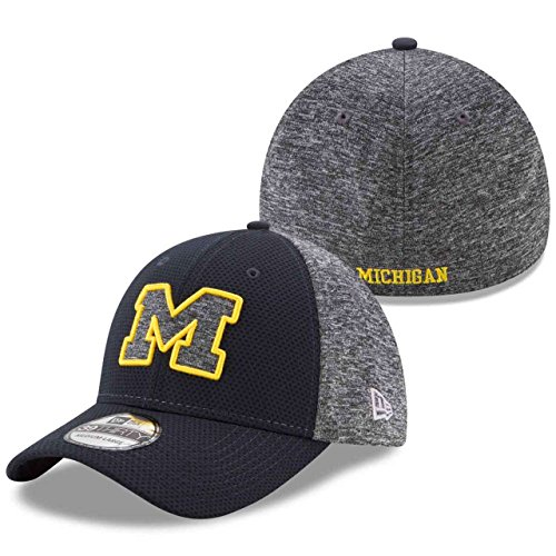 New Era Men's Michigan Wolverines Grey Fierce Fill 39THIRTY Hat (ML)