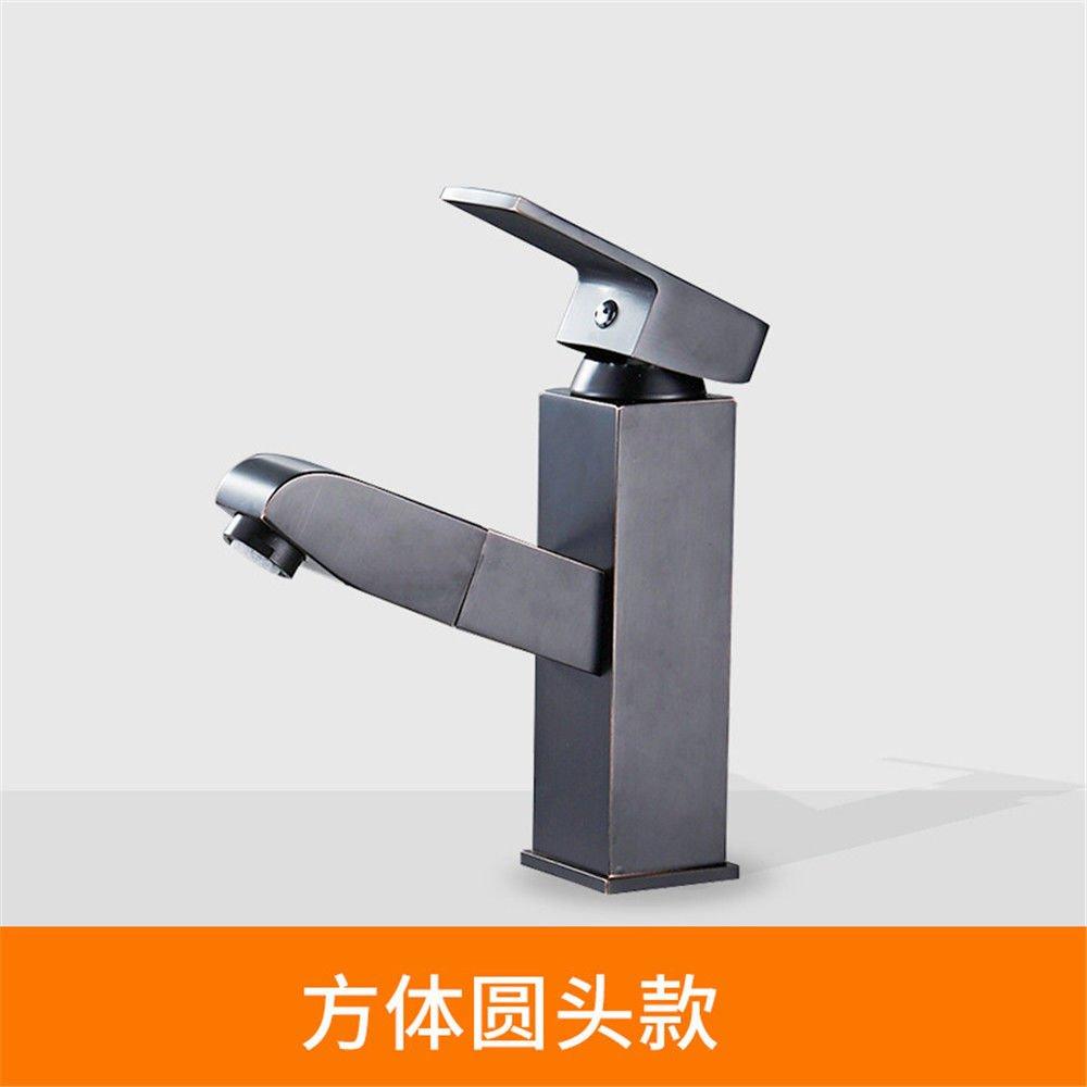 NewBorn Faucet Küche oder Badezimmer Waschbecken Mischbatterie Schwarz Pull-Down Alle Kupfer antiken Tisch Becken B Tippen