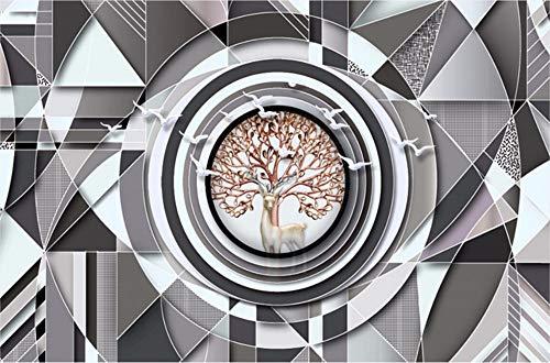 Wallpaper 3D Minimalistic Abstract Geometric Mosaic Elk Custom Large Mural 3D Effect Living Room Bedroom Wall Murals