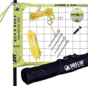Park & Sun Sports Tournament Flex 1000: Portable Outdoor Volleyball Net System by Park & Sun Sports