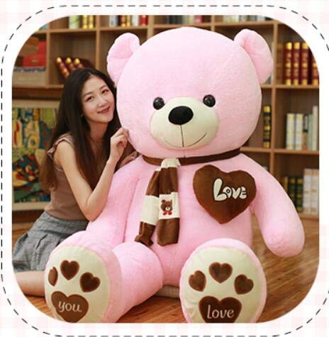 ATA19 - Stuffed Animals - 80-100cm 1m Giant Filled Big Teddy Bears Stuffed Animals Toys Pink Party Children Birthday Gift Soft Pillow Dolls Plush Teddies