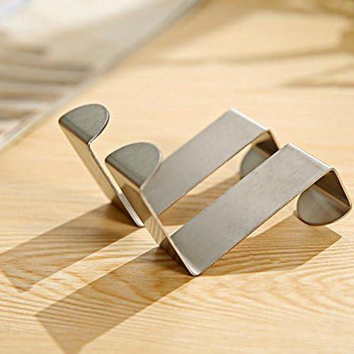 Nourich 2Pcs Door Hook Stainless Self Adhesive Hooks,Professional Door Hook for Bathroom Waterproof No Drill Glue Kitchen Cabinet Clothes Hanger