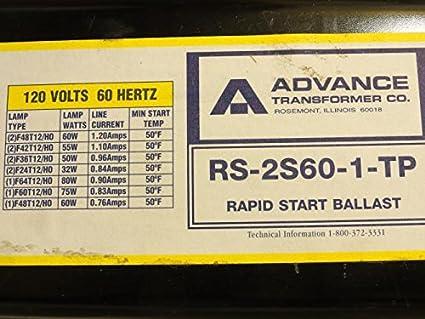 Rapid Start 120V Advance RS-2S60-1-TP Flourescent Ballast