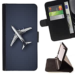 For Samsung Galaxy Core Prime Plain Airplane Style PU Leather Case Wallet Flip Stand Flap Closure Cover