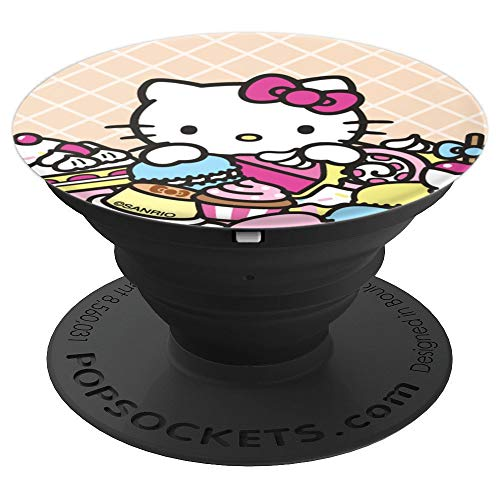 Hello Kitty Sweet Treats Cupcake Candy Macaron - PopSockets Grip and Stand for Phones and Tablets (Macaron Hello Kitty)