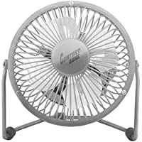 Comfort Zone 360-Degree Adjustable Tilt 4-Inch Cradle High Velocity Dual Powered Fan in Chrome (Chrome)