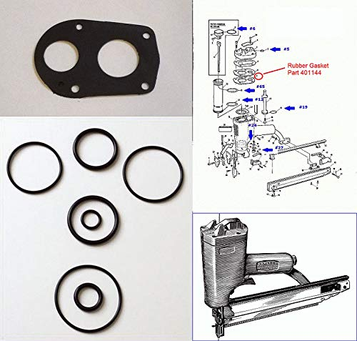 NEW Aftermarket for Paslode 212-F MU212F Finish Nailer O ring Kit + Rubber Cap Gasket 401144 ()