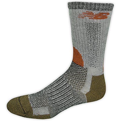New Balance Trail Crew Socks (1 Pair),Black/Orange, Shoe Size: Women's 10-12/ Men's 9-12.5 (Large) Nbx Stability Running Shoe