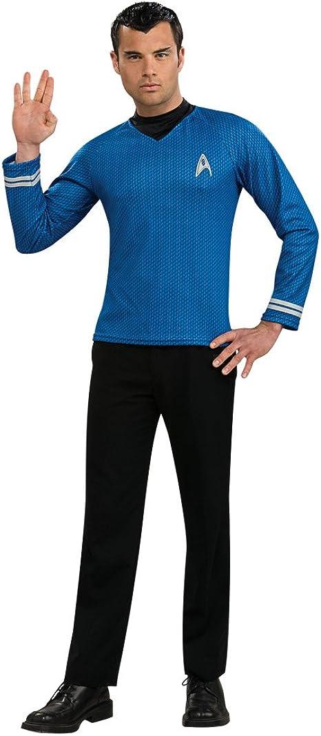 STAR TREK SPOCK science blue costume cosplay tee t-shirt S-M-L