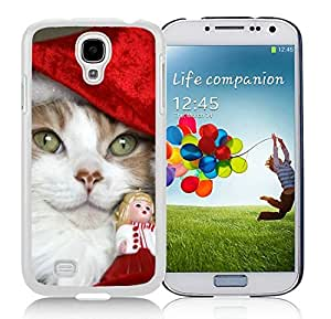 linJUN FENGHot Sell Samsung S4 TPU Protective Skin Cover Christmas Cat White Samsung Galaxy S4 i9500 Case 2