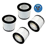 HQRP 4-pack Small Cartridge Filter for Shop-vac 5 gallon HangUp &...