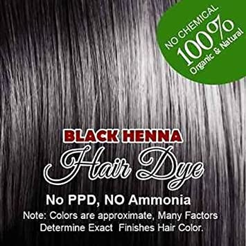 Amazon.com : Black Henna Hair Color - 100% Organic and Chemical Free ...