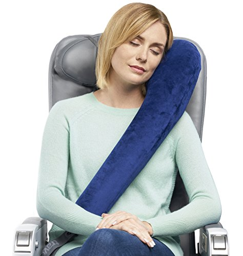 Travelrest All-in-One Ultimate Travel Pillow/Neck Pillow - Plush Washable Cover - Lean Into It - Best Pillow for Airplanes, Autos, Trains, Buses, Office Napping (Rolls Up Small)