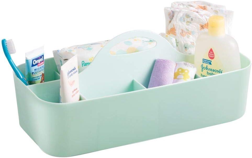 lot de 2 talc Grand m/édicaments Blanc revitalisant mDesign Fourre-tout de salle de bain B/éb/é//Enfants pour shampoing