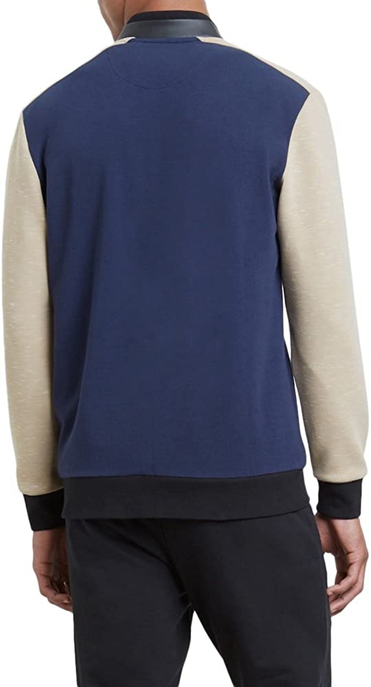Kenneth Cole Mens Colorblocked Knit Bomber Jacket
