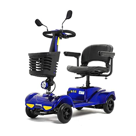 HOPELJ Folding Portable Mobility Scooter,Silla De Ruedas Eléctrica Ciclomotor with Batería De Litio 20AH