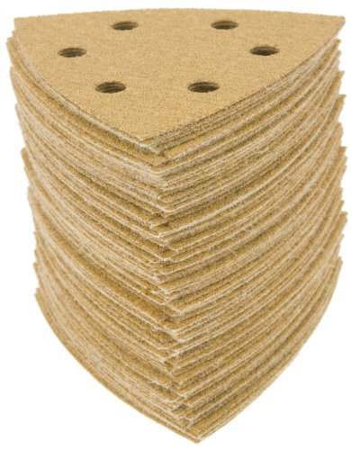 Grizzly H5028 Sandpaper Triangle A60 Hand Length 6 Hole, ...