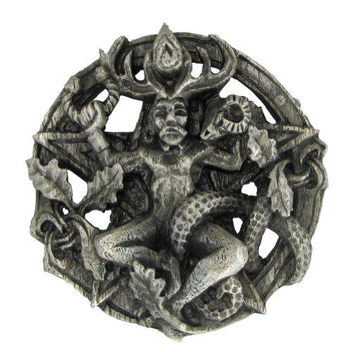 Pewter Cernunnos Celtic Horned God Belt Buckle Pewter Celtic Belt Buckle