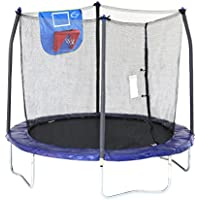 Skywalker Trampolines Jump N' Dunk Trampoline with Safety Enclosure and Basketball Hoop 8-Feet