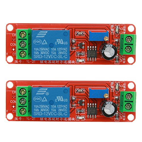 - Vanpower DC 12V 2200W Delay Relay Shield NE555 Timer Switch Adjustable Module,Delay Module (2pcs)