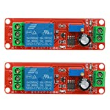 Relay Module, UEB 2pcs/5pcs DC 12V Delay Relay Shield NE555 Timer Switch Adjustable Module (12V - 2Pcs)