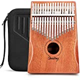 Souidmy 17 Key Kalimba, Thumb Piano with Protective Box, Tuning Hammer and Study Instruction, Portable Musical Instrument as Gift for Kids Adults Beginners Professionals